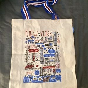 New York Cityscape Tote Macy's Exclusive NWOT